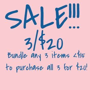 Other - Sale! Bundle any 3 items < $15 for $20- Men